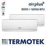 TERMOTEK AIRPLUS C9 12 - CLIMATIZZATORE DUAL-SPLIT 9000 12000 BTU INVERTER A WIFI READY R32