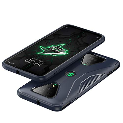 BRAND SET Hülle für Xiaomi Black Shark 3 Tasche Ultra Thin rutschfeste Cover Silikon Schutzhülle Bruchsichere Stoßfest Softshell Backcover Hüllen für Xiaomi Black Shark 3(Blau)