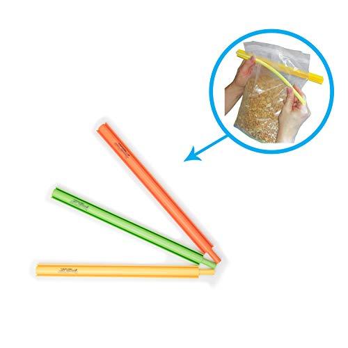 B#039Seal Bag Sealer Chip Clip Flexible Dishwasher Safe Freezer Friendly Airtight Food Seal Clamp 3 pack
