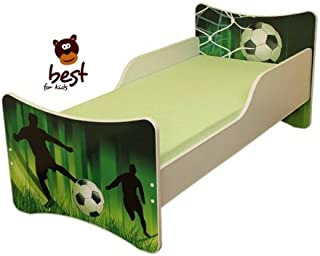 Best For Kids CHILDREN S BED with foam mattress with T V CERTIFIED 90x180 FOOTBALL