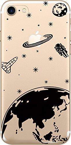 NOVAGO compatibile con iPhone 7 iPhone 8 Custodia cover silicone trasparente,ultra resistente- Spazio