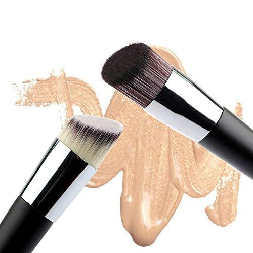 Pinceau De Maquillage 2PCS Oblique Head Foundation brosse Poudre Concealer Liquid Foundation Maquillage visage Brosses Outils Cosmétiques de beauté professionnels SETOF2
