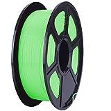 ZXC De 3D Pla Filamento Pluma Recargas 1,75 mm PrecisióN ± 0,02 100% Ninguna Burbuja De 1 kg 2,2 Libras Sin Olores Y FáCil De Pelar Filamento for La MayoríA De Impre(Color:Verde Claro)