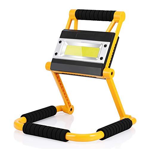 Luz de Trabajo LED Recargable, Plegable Foco LED Portátil Exterior, 4 Modos,...
