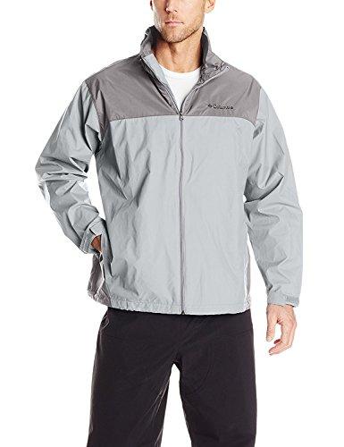 Columbia Men's Glennaker Lake Rain Jacket, Columbia Grey/Boulder, XX-Large