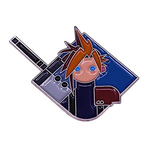 Final Fantasy Cloud Strife and Buster Espada Esmalte Pin Final Fantasy VII Classic toy1 Retro Gaming Art Broche
