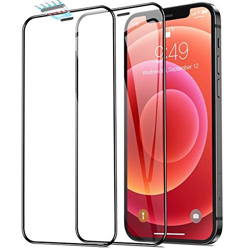 Humixx Kompatibel mit iPhone 12 Mini Panzerglas, [2 Pack], 3. Generation Vollständiges Upgrade 3D Staubschutz in Industriequalität Vollabdeckung 9H gehärtetes HD Schutzfolie