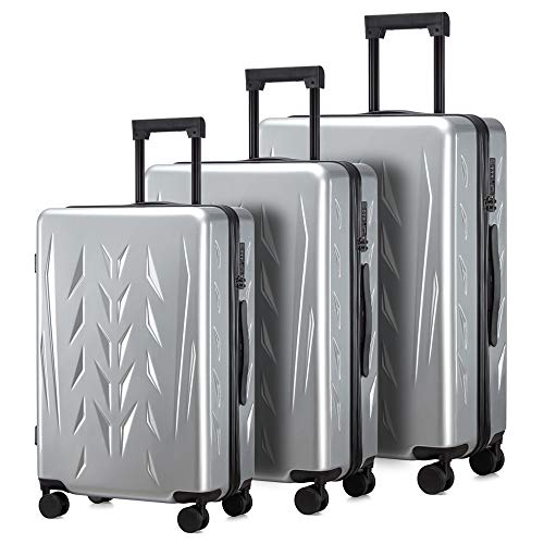 Sale!! ZION & PISHON ZP Luggage sets with Spinner Wheels, Built-In TSA lock,100% Polycarbonate (20in...