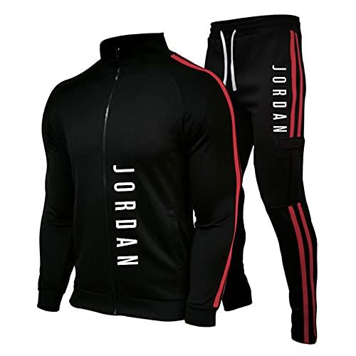 JIEJING Chándales para Hombre Jordan 23# Sudadera con Capucha Entrenamiento Jogging para Correr Gimnasio Deportes Top Mujer Pantalones De Chándal Traje Suelto Pulóver