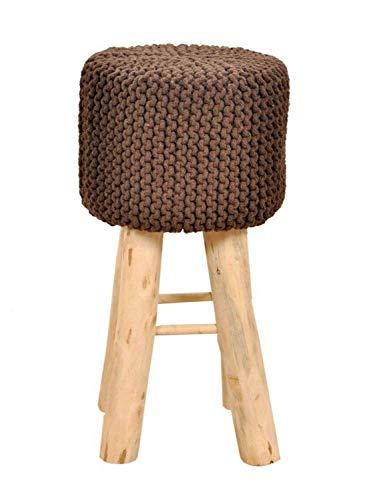 Casamia barkruk Tresen keukenkruk bistro kruk barstoel met houten poten Ø 35 cm hoogte 72 cm kaneel, One Size