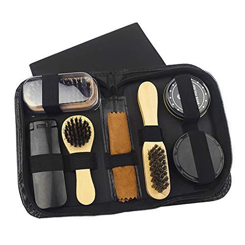Baoblaze 8pcs Kit De Soins De Cirage De Chaussures Portable Pour Bottes Unisexes