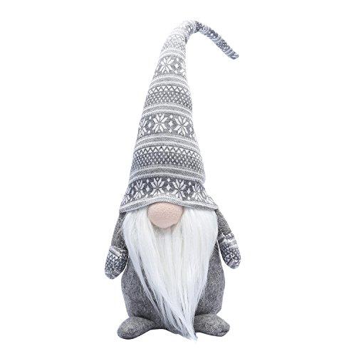 19 Inches Handmade Christmas Gnome Decoration Swedish Figurines (Grey)