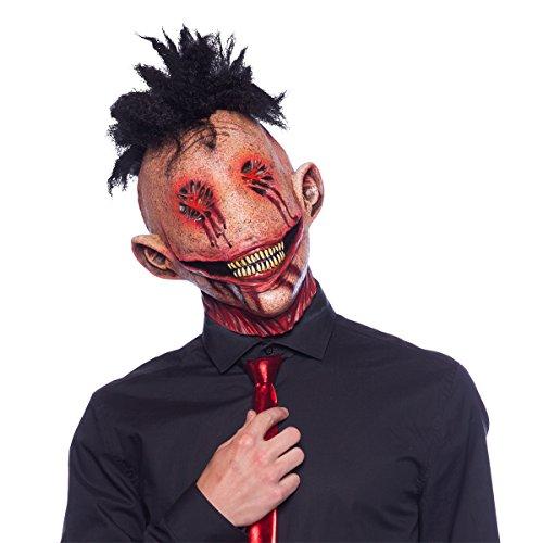 Maschera da demone ghignante in latex