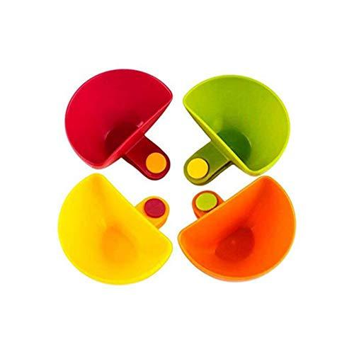 UKtrade Surtido de condimentos ensalada de azúcar salsa de tomate platos cocina clip tazón de inmersión (4 piezas)