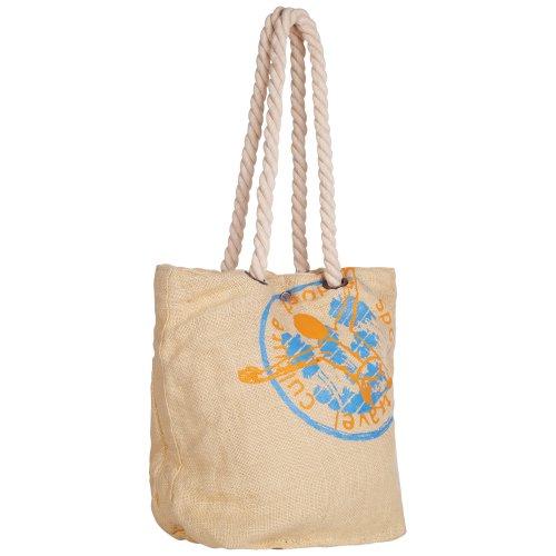 Chiemsee 5060601 Hiva, coole beachttas met koordhandgrepen en trendy Bahia print, mooie shopper in linnen, tas verkrijgbaar in verschillende kleuren, 38 x 44 x 22 cm
