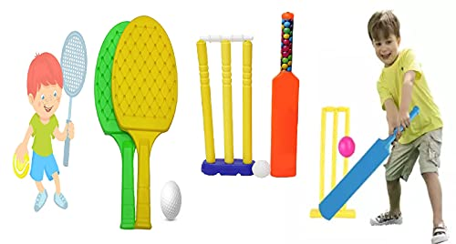Wizme Bat Ball Cricket Set with Kids Table Tennis Game for Kids Girls Boys
