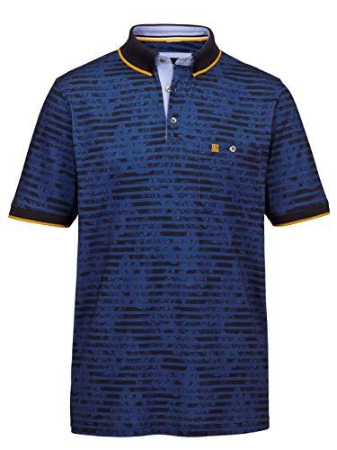 BABISTA Straight Fit Poloshirt Gestreift in Blau aus Baumwolle