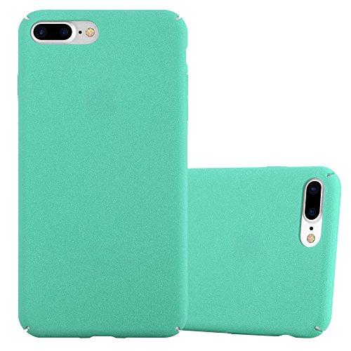 Cadorabo Funda para Apple iPhone 8 Plus / 7 Plus / 7S Plus en Frosty Verde - Cubierta Protección de Plástico Duro Super Delgada e Inflexible con Antichoque - Case Cover Carcasa Protectora Ligera