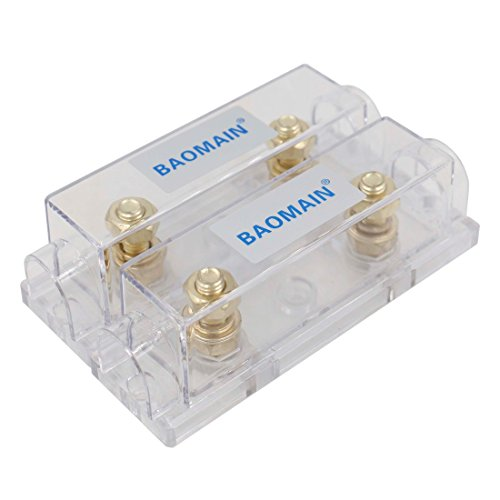 Baomain ANL Fuse Holder Electrical Protection for ANL Fuse Cover 2 Pack
