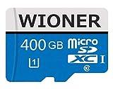 Tarjetas de memoria Micro SDXC Class 10 Micro SDXC Card 400 GB Micro SD Card C10 Tarjetas de memoria TF Card Transflash con adaptador SD para teléfono o cámara (400GB)