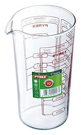 Pyrex Verre doseur Capacité 2 unités de mesure au choix, Verre, 0,5 Liter - hoch