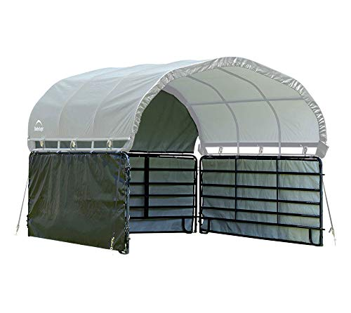 ShelterLogic 12 x 12 Equine, Livestock, and Agricultural Corral Shelter Shade and Enclosure Kit (Corral Panels and Corral Shelter Not Included)