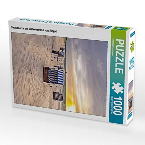 CALVENDO Puzzle Strandkörbe am Ostseestrand von Zingst 1000 Teile Lege-Größe 48 x 64 cm Foto-Puzzle Bild von Andrea Dreegmeyer
