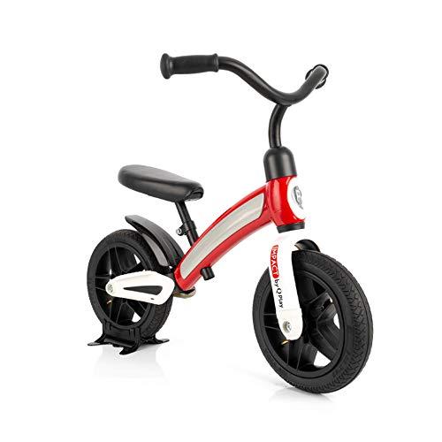QPLAY Bicicleta de Equilibrio - Bicicleta sin Pedales Tech Balance Impact Air Wheel - Ajustable - De 2 a 4 años - Color Rojo