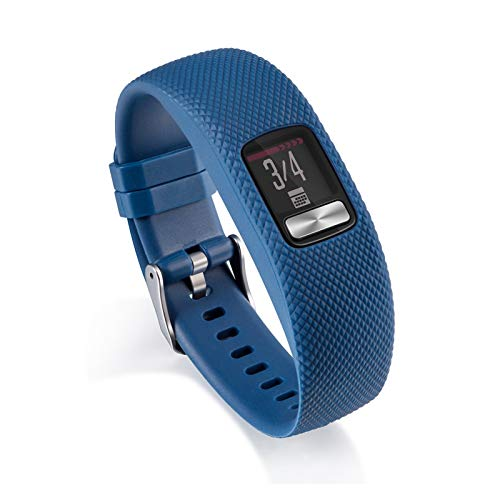 Soft Sillicone Strap De Pulsera para Garmin VIVOFIT 4 Actividad Banda De Reemplazo De Fitness para Garmin VIVOFIT4 SmartWatch (Color : Navy Blue, Size : S)
