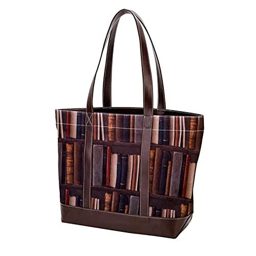 NaiiaN Bolso de mano para compras, bolsos de mano, bolsos de hombro de estantería para madres, mujeres, niñas, estudiantes, correa liviana para estudiantes