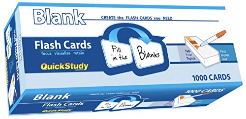 Blank (Quickstudy (Flash Cards))