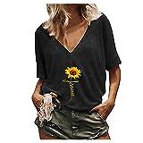 Mujer Camisetas Manga Corta Casual Camisas Lisos Deportivas Verano T-Shirt