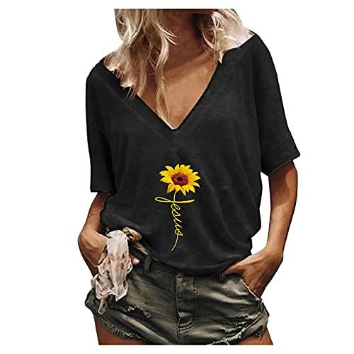 2021 Nuevo Camiseta Mujer Verano Moda algodón impresión Manga Corta Blusas Camisa Cuello Redondo Basica Camiseta Suelto Tops Casual Fiesta T-Shirt Original tee