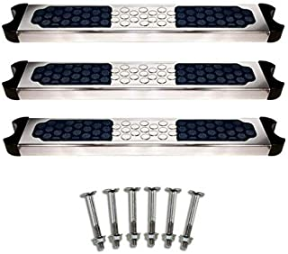 3) Hydrotools 87906 Pool Stainless Steel Ladder Rung Steps + Complete Bolts Set