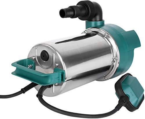 FIXKIT 1100W Pompe Submersible, Pompe d'évacuation pour Eaux Chargées, Max. 20000L/H, Hauteur de Refoulement 9 m, Câble d'alimentation 10 m, Corps en INOX, Particule Maximum Passable est de 35mm