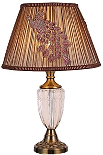 WORSY Table Lamps Table Lamp European-Style Luxury Iron Crystal Table Lamp with Beautiful Personality Living Room Bedroom Bedside Table Lamp 45 68cm