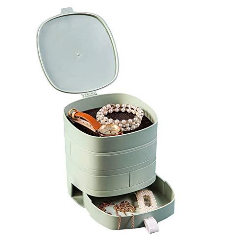 Organizador Joyas Joyero para Collares Almacenamiento de joyería y bisutería Personalizado Cajas de la joyería Blanco, Caja de joyería Green,One Size