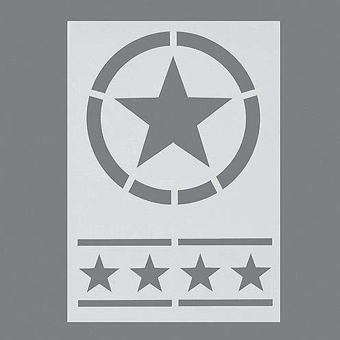 efco Sterne Schablone in 2Designs, Kunststoff, transparent, A5