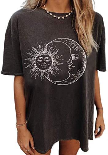 LilyCoco Camiseta de Mujer Camisa de Manga Corta Blusas y Camisas Verano...