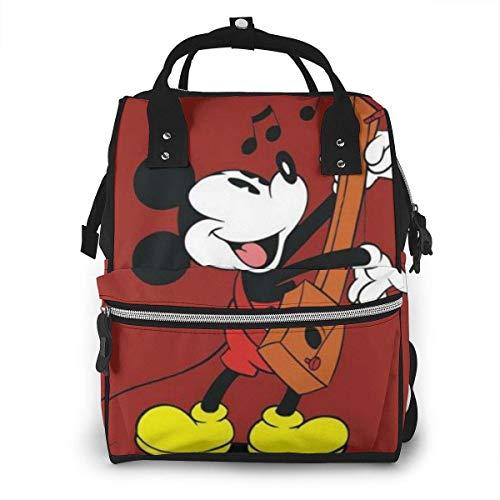 Bolsa de pañales Mickey Play The Xylophone Mommy Baby Bag Multifunción Mochila de viaje de gran capacidad
