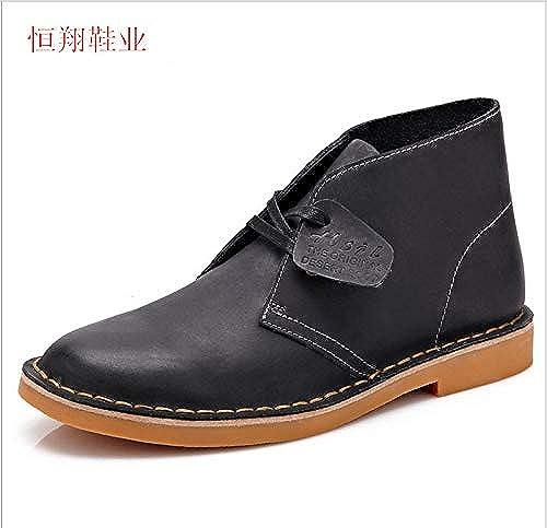 LOVDRAM Chaussures en Cuir pour Hommes Bottes Martin en Cuir pour Hommes Bottes