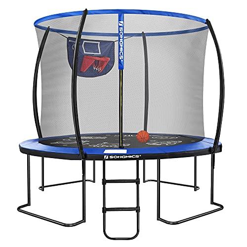SONGMICS Outdoor Trampoline for Kids, 10FT, Blue and Black USTR105Q01