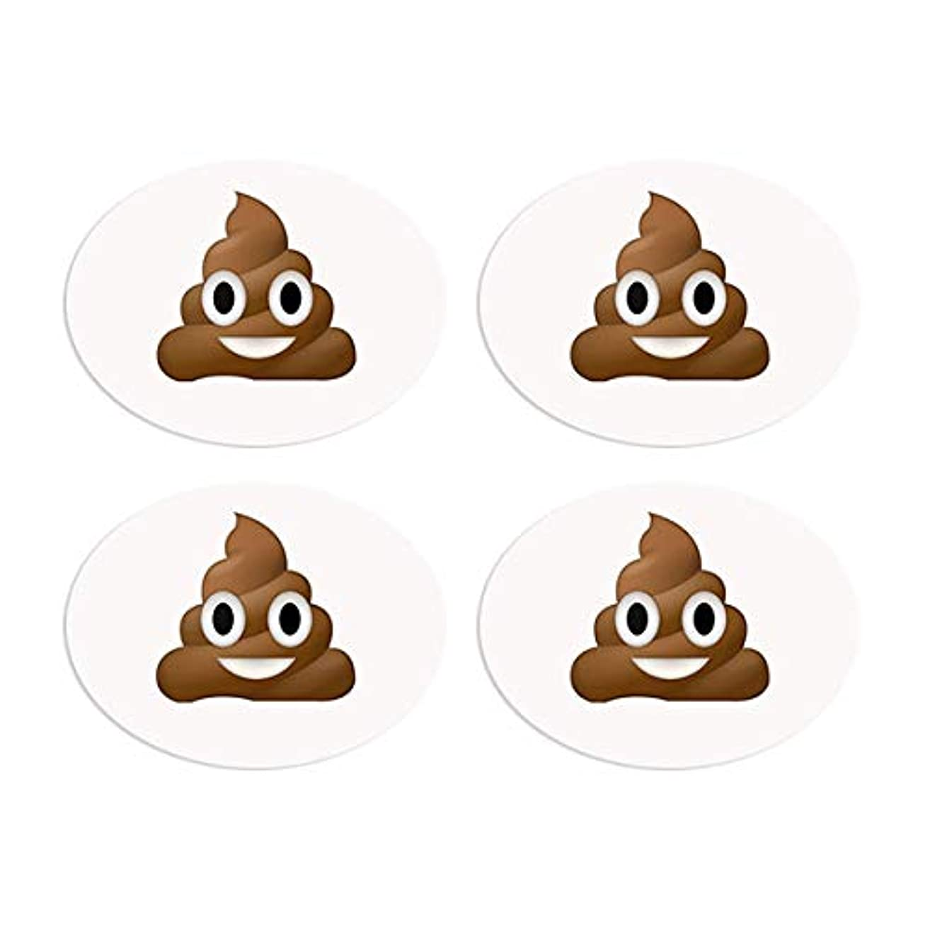 BibBoards SNAP & Lock for Event/Race Bibs Pinless Race/Event Bib Number Fasteners (Safety Pin Replacement) (Poop Emoji)