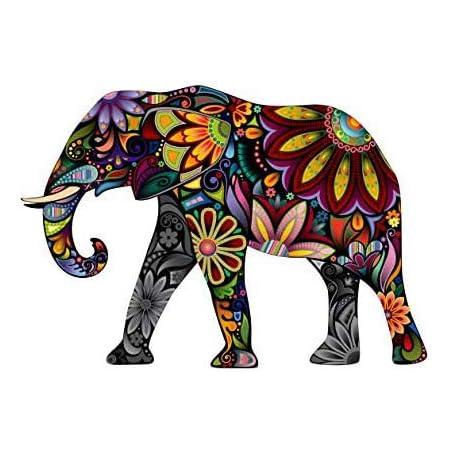 VT-Beautiful Colorful Elephant Sticker| 5 inch | Vog 39