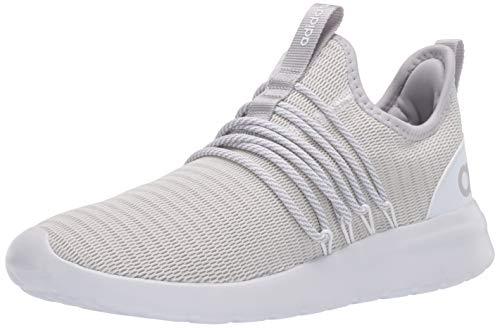 adidas Women's LITE Racer Adapt Running Shoe, White/Grey/Light Granite, 8