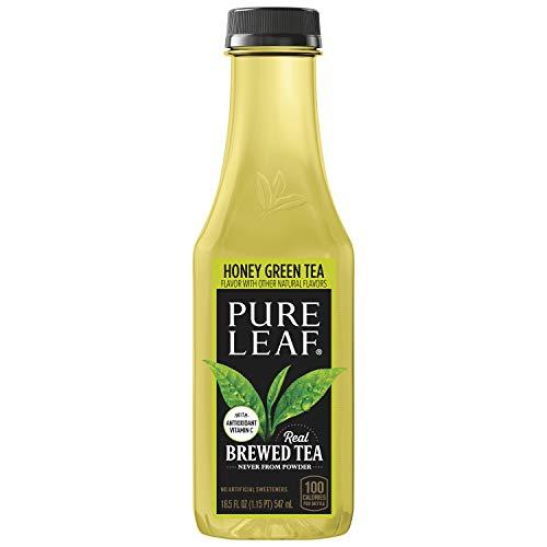 Pure Leaf Iced Tea, Tea Bottles, 18.5, Honey Green, 222 Fl Oz (Pack of 12)