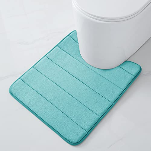 Buganda Memory Foam Contour Toilet Bath Rug,...