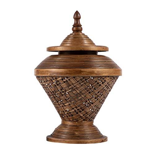 Lámparas de Mesa Lampara mesita noche Lámpara de mesa de bambú único Sala de estar Dormitorio Bambú Art Lámpara de noche Thai Style Hotel Club Retro Decoración creativa Lámpara de mesa, Hecho a mano,