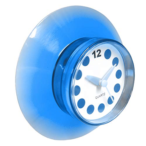 DZ Blue Translucent Shower Clock