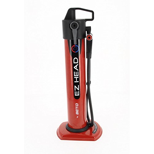 Beto Kompressorpumpe EZ Head für Reifen Tubeless Erwachsene Unisex, Rot, Höhe 485 mm